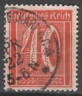 Deutsches Reich    .    Michel    .     182       .       O        .      Gebraucht - Gebraucht