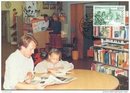 CM-Carte Maximum Card #1985-Norvège-Norway# 200 Years Library # Books,livres,bibliothek, - Cartes-maximum (CM)