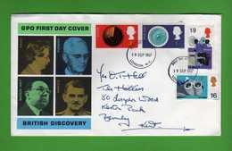 Great Britain FDC: 1967 British Discovery .   Vedi Descrizione. - FDC