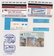 1338(9) ITALIA / ITALY / ITALIE. 6 Tickets / Billets / Biglietti: Roma / Rome, Siena. Umbria.. - Billetes De Transporte