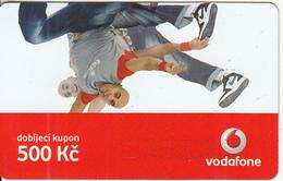 CZECH REPUBLIC - 2 Boys, Vodafone Prepaid Card 500 Kc, Exp.date 12/11/09, Used - Czech Republic