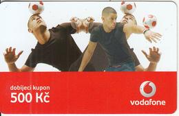 CZECH REPUBLIC - 3 Boys, Football, Vodafone Prepaid Card 500 Kc, Exp.date 18/05/09, Used - Czech Republic