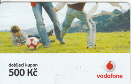 CZECH REPUBLIC - Football, Vodafone Prepaid Card 500 Kc, Exp.date 07/04/08, Used - Czech Republic