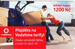 CZECH REPUBLIC - Couple, Vodafone Prepaid Card 1200 Kc, Exp.date 24/02/11, Used - Czech Republic