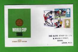Great Britain FDC: 1966 - WORLD CUP.   Vedi Descrizione. - FDC