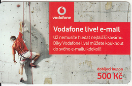 CZECH REPUBLIC - Climbing, Vodafone Prepaid Card 500 Kc, Exp.date 07/12/10, Used - Czech Republic