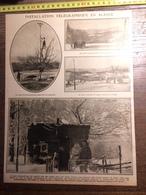 DOCUMENT 1910/1920 INSTALLATION TELEGRAPHIQUE EN ALSACE - Vieux Papiers