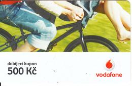 CZECH REPUBLIC - Bicycle, Vodafone Prepaid Card 500 Kc, Exp.date 08/04/08, Used - Czech Republic