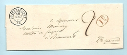 Haute Marne - Juzennecourt Pour Riaucourt. CàD Type 15 + Taxe 2. 1845 - Marcophilie (Lettres)