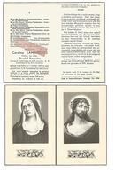D 686. CAROLINA LAMBRECHTS Wed. T. Vandendries - °SCHAFFEN 1867 / +WAANRODE 1959 - Images Religieuses