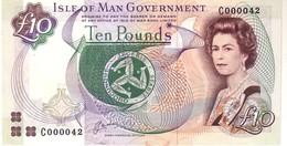 Isle Of Man P.42 10  Pounds 1991 Unc - 10 Pounds