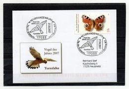 BRD, 2007, Brief (echt Gelaufen) Mit Michel 2504 Und Sonderstempel/Turmfalke - Vogel Des Jahres 2007 - Covers