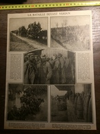 DOCUMENT GUERRE 14/18 LA BATAILLE DEVANT VERDUN - Old Paper