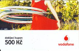 CZECH REPUBLIC - Girl, Vodafone Prepaid Card 500 Kc, Exp.date 10/04/08, Used - Czech Republic