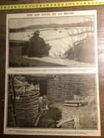 DOCUMENT GUERRE 14/18 SUR LES RIVES DE LA MEUSE TRANCHEES - Old Paper