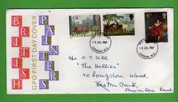 Great Britain FDC: 1967 - PAINTERS.   Vedi Descrizione. - FDC
