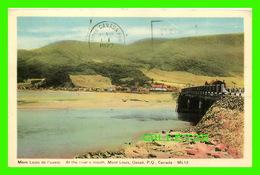 GASPÉ, QUEBEC - AT THE RIVER'S MOUTH, MONT-LOUIS & THE BRIDGE - M.L. - CIRCULÉE EN 1977 - - Gaspé