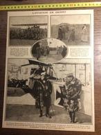 DOCUMENT GUERRE 14/18 L AVIATION EN ORIENT GENERAL PAU MINTAGU YAGA SERGENT FETU AVIATIK - Old Paper