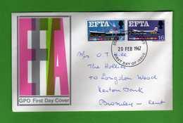 Great Britain FDC: 1967 - EFTA.   Vedi Descrizione. - FDC