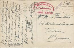Marque De Franchise Militaire Sur CP  - Etat Major  Le Vaguemestre Région Aerienne  25 Janvier 1941 - Guerre 1939-45