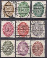 ALLEMAGNE -  DEUTSCHLAND - GERMANIA - 1927/1928 - Serie Completa Obliterata Yvert Servizio 77/85; 9 Valori. - Oficial
