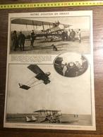 DOCUMENT GUERRE 14/18 NOTRE AVIATION EN ORIENT GENERAL BAUMANN BASE FRANCAISE DE MOUDROS AEROPLANE ILE LEMNOS - Old Paper