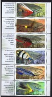 1998  Fishing Flies Vertical Strip Of 6 Different  Sc 1715-20** - 1952-.... Règne D'Elizabeth II