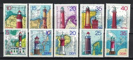 DDR 1974 + 1975, Leuchtturm Vuurtoren Lighthouse Phare Faro **, MNH - Leuchttürme