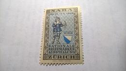 ERINNOFILI VIGNETTE CINDERELLA - NABA 1934 ZURICH - Erinnofilia