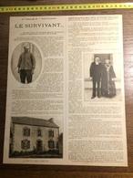 DOCUMENT GUERRE 14/18 LE TORPILLAGE DE L AMIRAL CHARNER CARIOU HOPITAL DE TOULON PORZ CLAIC - Vieux Papiers