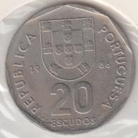 @Y@    Portugal  20 Escudos   1986    (4665) - Portugal