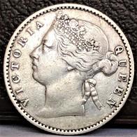 Straits Settlements 10 Cents 1883 Queen Victoria Silver XF Rare Coin - Grande-Bretagne