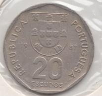 @Y@    Portugal  20 Escudos   1987    (4664) - Portugal