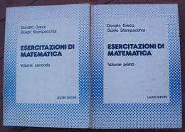 Donato GRECO Guido STAMPACCHIA : ESERCITAZIONI DI MATEMATICA 2 Volumes (italien) - Mathématiques Et Physique