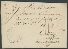 1810, 100 KAYERSLAUTERN, Roter L2, Auf Persönlichem Briefpapier Von Charles Eickemeyer, Taxiert, Prachtbrief -> Automati - [1] ...-1849 Precursori