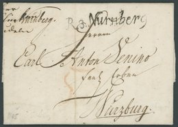 BAYERN R.3. NÜRNBERG, Schreibschrift-L1, Prachtbrief (1805) Nach Würzburg - [1] ...-1849 Precursori