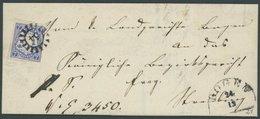 BAYERN 21b BRIEF, 1868, 7 Kr. Dunkelultramarin Auf Doppelt Verwendeter Briefhülle Mit MR-Stempel 54 (Bogen), Pracht, Gep - Bayern (Baviera)