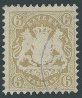 1870, 6 Kr. Lebhaftockerbraun, Wz. Enge Rauten, Pracht, Mi. 90.- -> Automatically Generated Translation: 1870, 6 Kr. Bri - Bayern (Baviera)