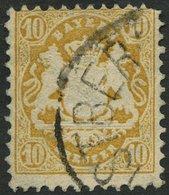 BAYERN 35 O, 1875, 10 Kr. Dunkelchromgelb, Wz. 2, Pracht, Gepr. Brettl, Mi. 320.- - Bayern (Baviera)