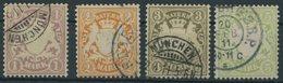 BAYERN 71-74 O, 1911, Postscheckpapier, Prachtsatz, Mi. 90.- - Bayern (Baviera)