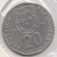 @Y@    Portugal  20 Escudos   1998    (4662) - Portugal