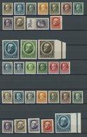 BAYERN 94II-115A/B **, 1916, Kriegsdruck, Gezähnt Und Ungezähnt, 2 Postfrische Prachtsätze (39 Werte), Mi. 70.- - Bayern (Baviera)