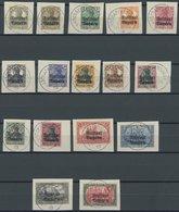 BAYERN 136-51 BrfStk, 1919, Freistaat Auf Dt. Reich Auf Briefstücken, Alle Mit Stempeln ASCHAFFENBURG 1, Prachtsatz, End - Bayern (Baviera)