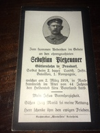 Sterbebild Wk1 Ww1 Bidprentje Avis Décès Deathcard Landsturm IB2 HAUTRAGE Block IV Reihe D Grab 371 Aus Frasdorf - 1914-18