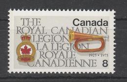 1975. 50th Anniversary Of Royal Canadian Legion. MLH (*) - 1952-.... Règne D'Elizabeth II