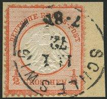 Dt. Reich 3 BrfStk, 1872, 1/2 Gr. Ziegelrot, K1 SCHLESWIG 11.1.72 (frühe Verwendung!), Normale Zähnung, Prachtbriefstück - Deutschland