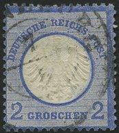 Dt. Reich 5XII O, 1872, 2 Gr. Ultramarin Mit Plattenfehler Beschädigter Bogen Der Linken 2, Feinst (dünne Stellen) - Deutschland