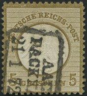 Dt. Reich 6 O, 1872, 5 Gr. Ockerbraun Mit Preußischem Packkammerstempel AACHEN PACKKAMMER, R!, Seltene Zufallsentwertung - Deutschland