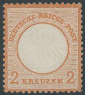 Dt. Reich 8 *, 1872, 2 Kr. Ziegelrot, Falzrest, Leicht Getönter Gummi, Farbfrisch, Pracht, Fotobefund Sommer, Mi. 800.- - Deutschland