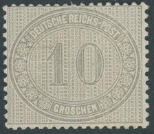 Dt. Reich 12 *, 1872, 10 Gr. Hellgraubraun, Falzrest, Kabinett, Fotobefund Sommer, Mi. (75.-) - Deutschland